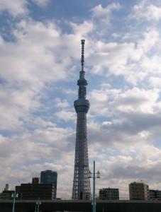 墨田区の中央に位置する東京スカイツリー